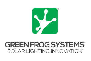 green frog solar lighting